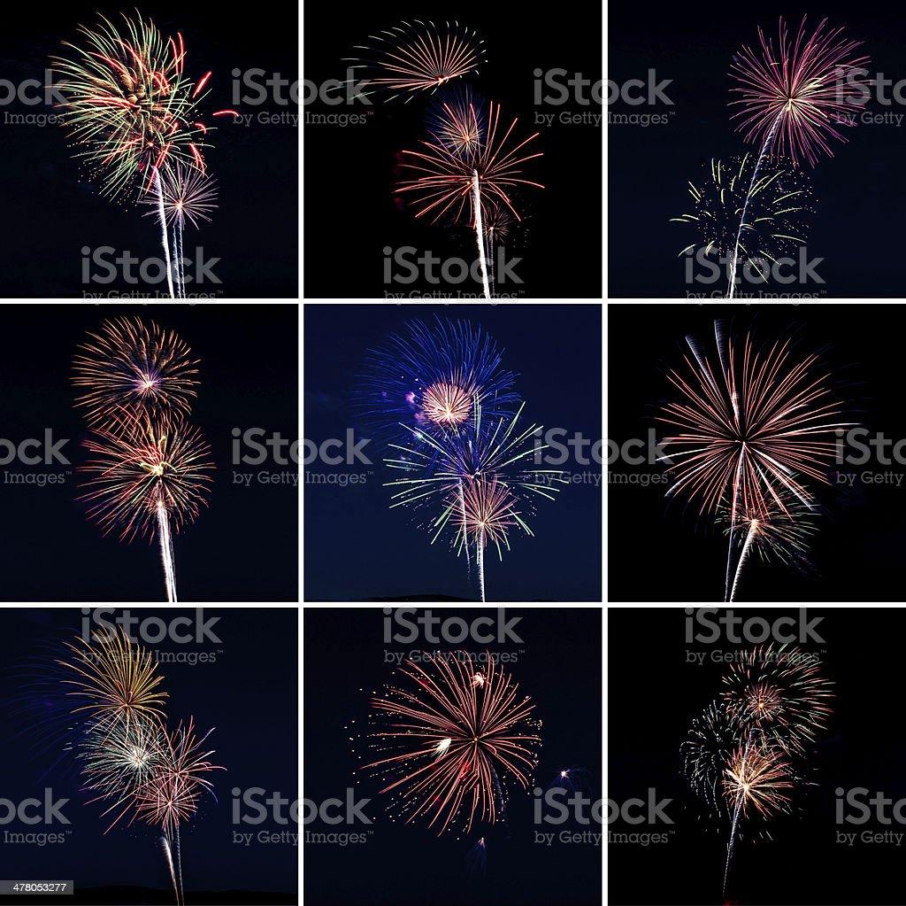 Multi Fireworks royalty-free stock photo