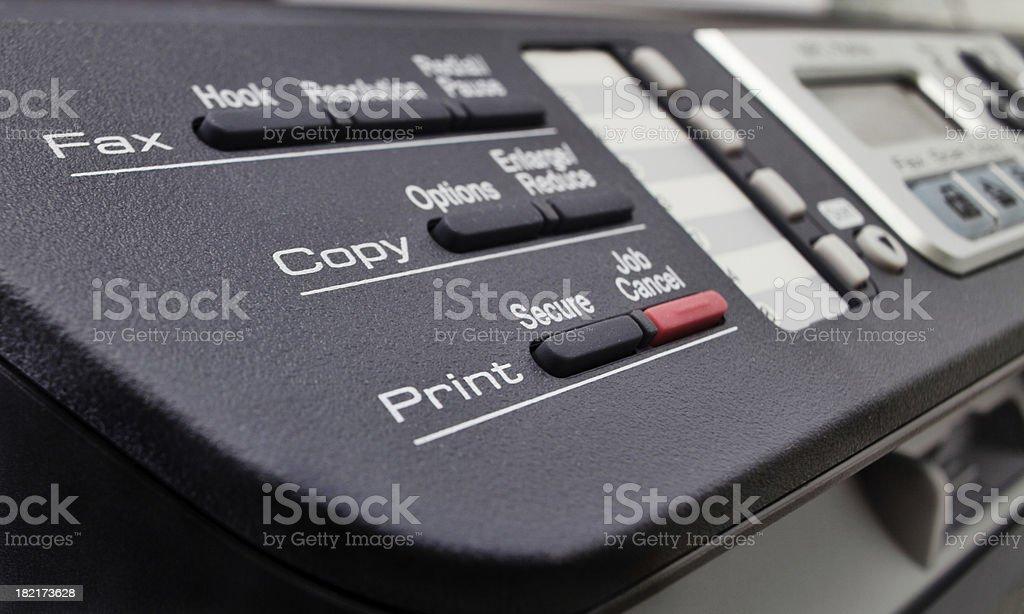 Multi Funcional Office Machine Control royalty-free stock photo