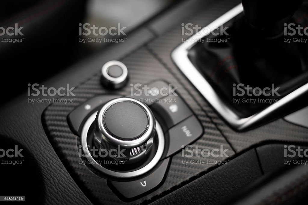 Multi function button on modern car. – Foto