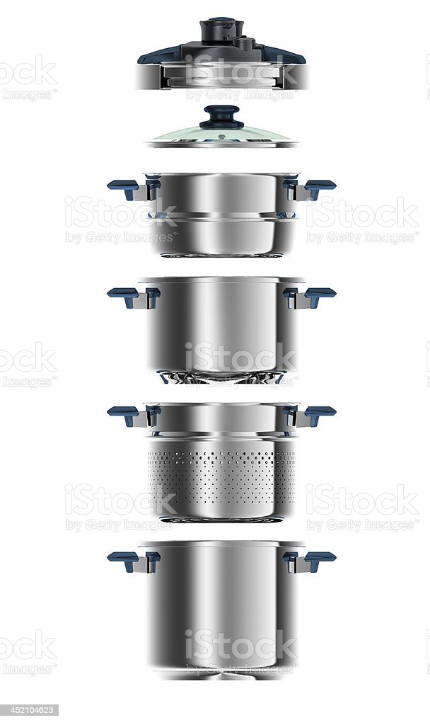 Multi functional cookware 3D generated multi functional cookware Cooking Pan Stock Photo