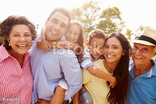 istock Multi Generation Family Having Fun In Garden Together 514134717