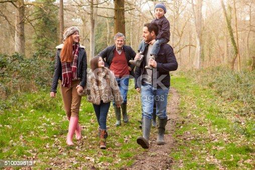 510042945 istock photo Multi Generation Family On Countryside Walk 510039813