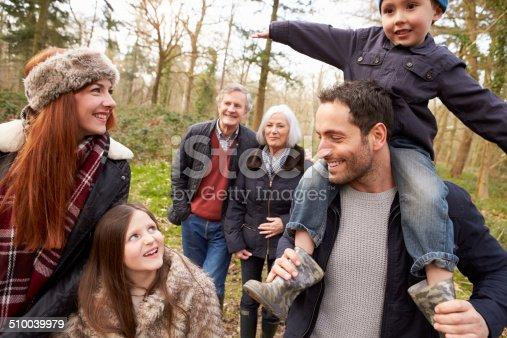 510042945 istock photo Multi Generation Family On Countryside Walk 510039979
