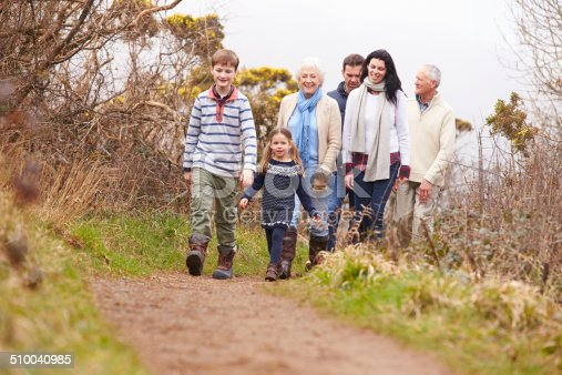 istock Multi Generation Family On Countryside Walk 510040985