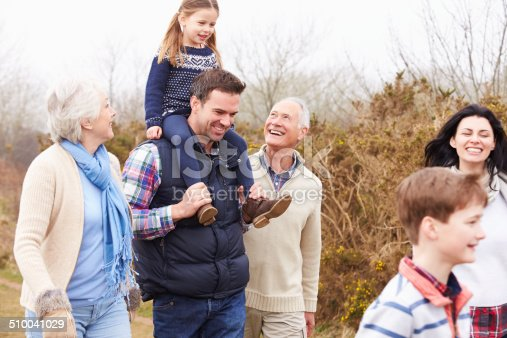 istock Multi Generation Family On Countryside Walk 510041029