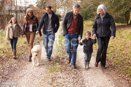 istock Multi Generation Family On Countryside Walk 510042815