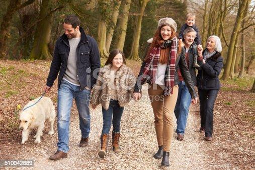 510042945 istock photo Multi Generation Family On Countryside Walk 510042889