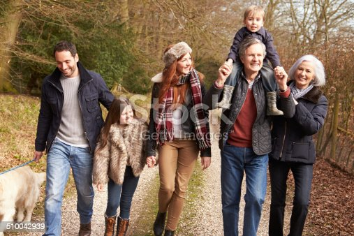 istock Multi Generation Family On Countryside Walk 510042939