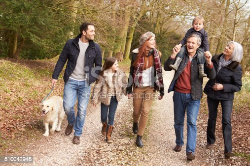 istock Multi Generation Family On Countryside Walk 510042945