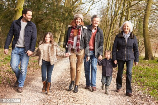 istock Multi Generation Family On Countryside Walk 510042955