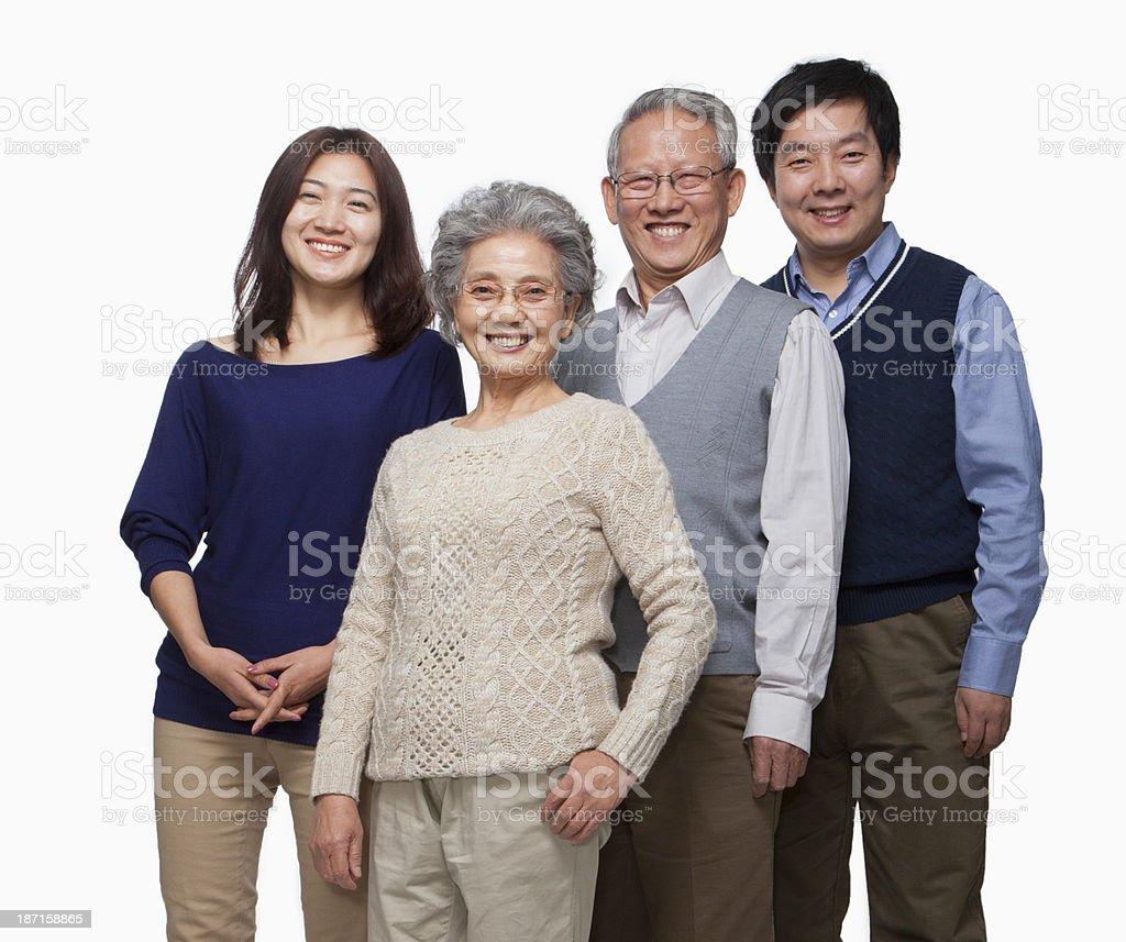 Multi generation family portrait stock photo