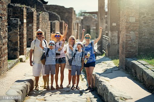 istock Multi generation family sightseeing ancient ruins 1191705972