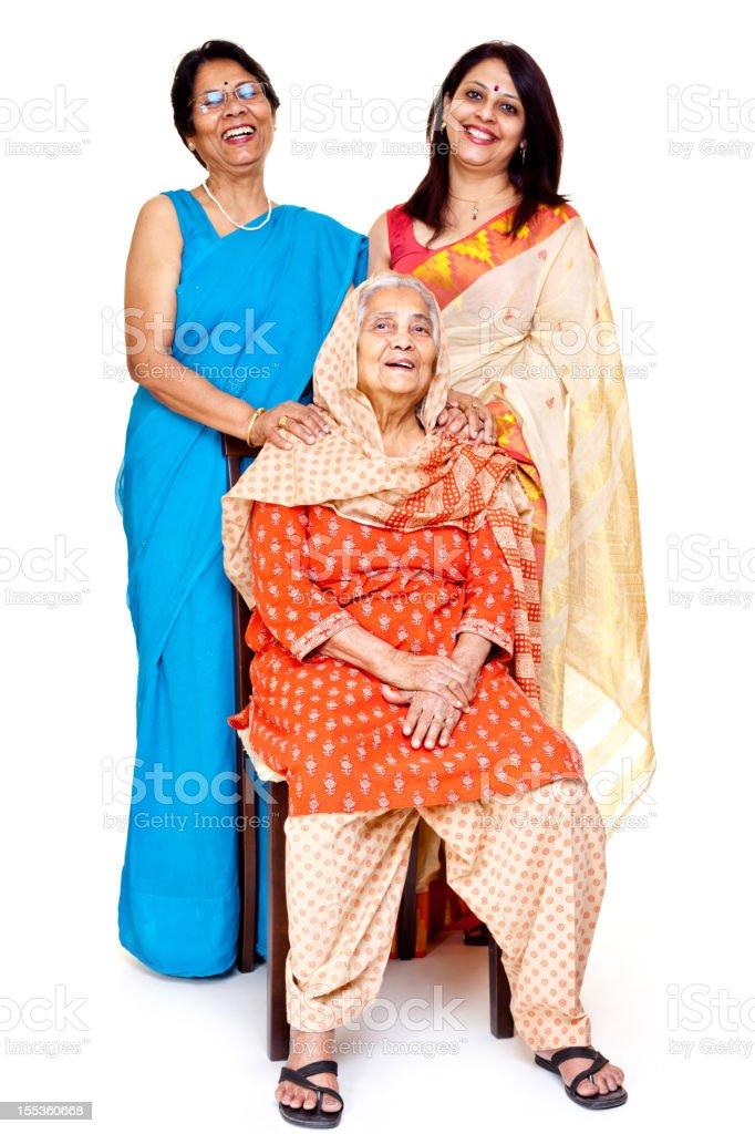 Multi generation Indian family royalty-free stock photo