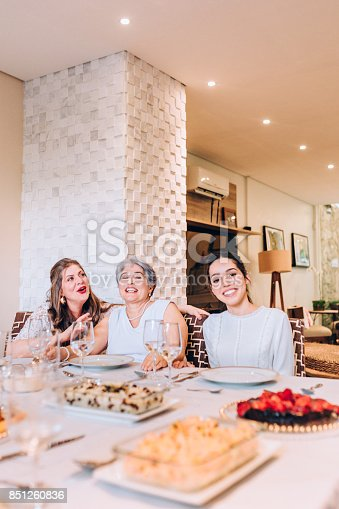 1035768506 istock photo Multi generation women at family lunch 851260836