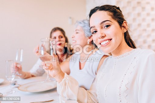 1035768506 istock photo Multi generation women at family lunch 851261026
