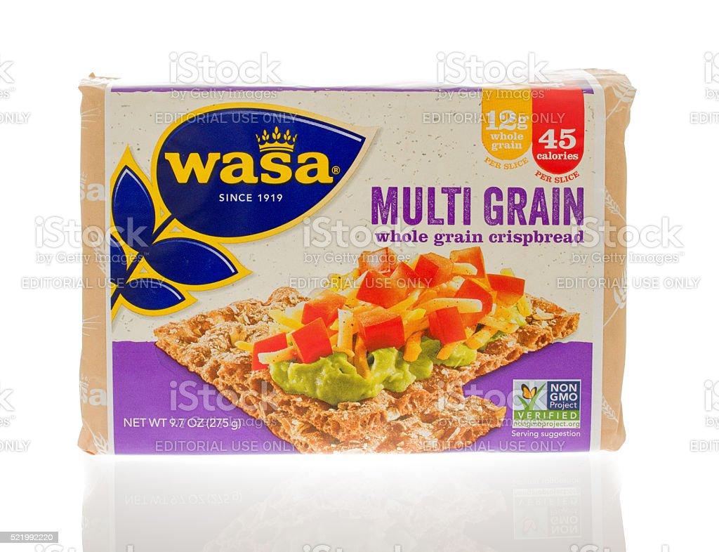 Multi Grain Crispbread stock photo