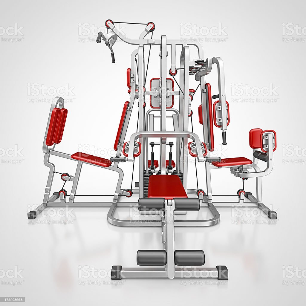 multi gym stock photo