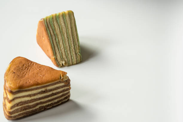multi layered cake called lapis legit-or spekkoek, from indonesia - pandan składnik zdjęcia i obrazy z banku zdjęć