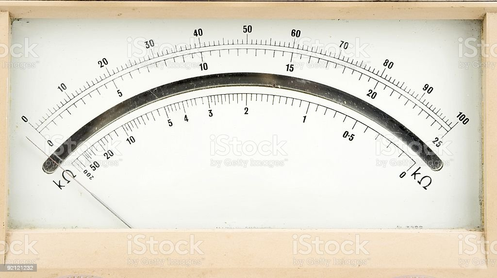 Multi Meter Face royalty-free stock photo