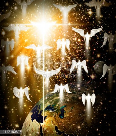 istock Multi Winged Angel in the Night Sky 1147160627
