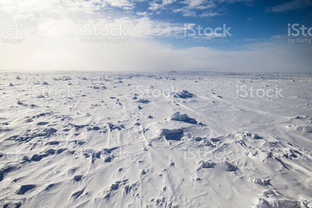 Multi year ice floe stock photo