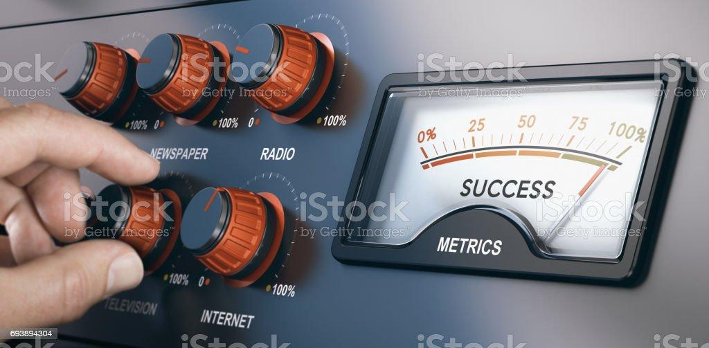 Multi-Channel-Marketing, erfolgreiche massenmediale Kampagne – Foto