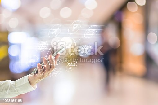 846708102 istock photo Multichannel marketing via cloud computing network on mobile smartphone app for digital shopping people lifestyle 1058161186