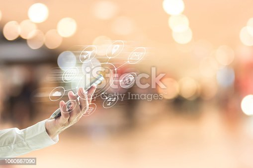 846708102 istock photo Multichannel marketing via cloud computing network on mobile smartphone app for digital shopping lifestyle people 1060667090