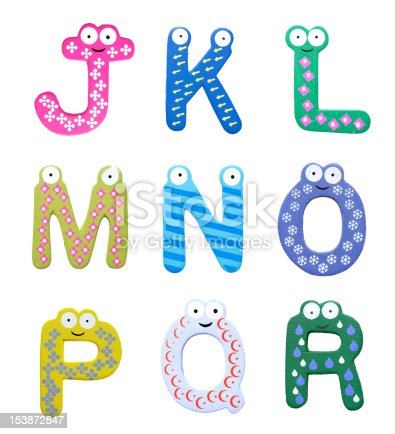 istock Multicolor alphabet fridge magnet letters isolated on white background 153872847