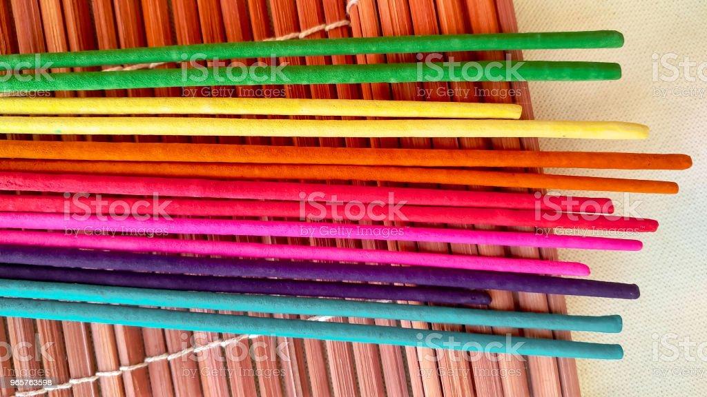 Multicolor aroma stokken - Royalty-free Aromatherapie Stockfoto
