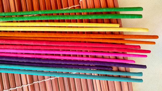 Multicolor Aroma Stokken Stockfoto en meer beelden van Aromatherapie