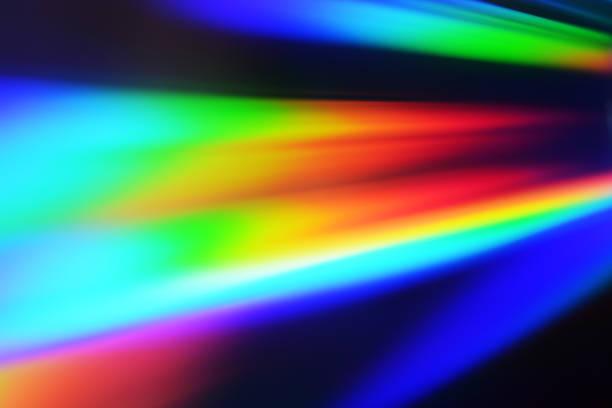 Multi-Color background light reflection stock photo