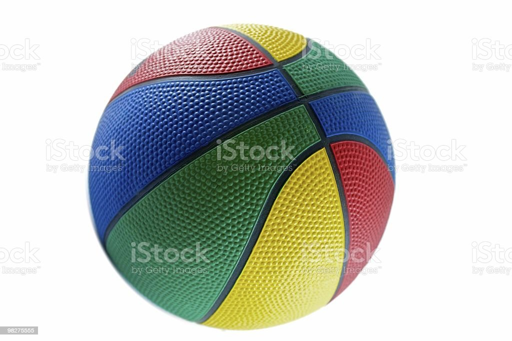 Multicolor basketball royalty-free stock photo