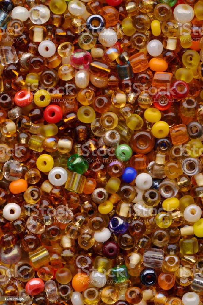 Multicolor beads assortment stock photo