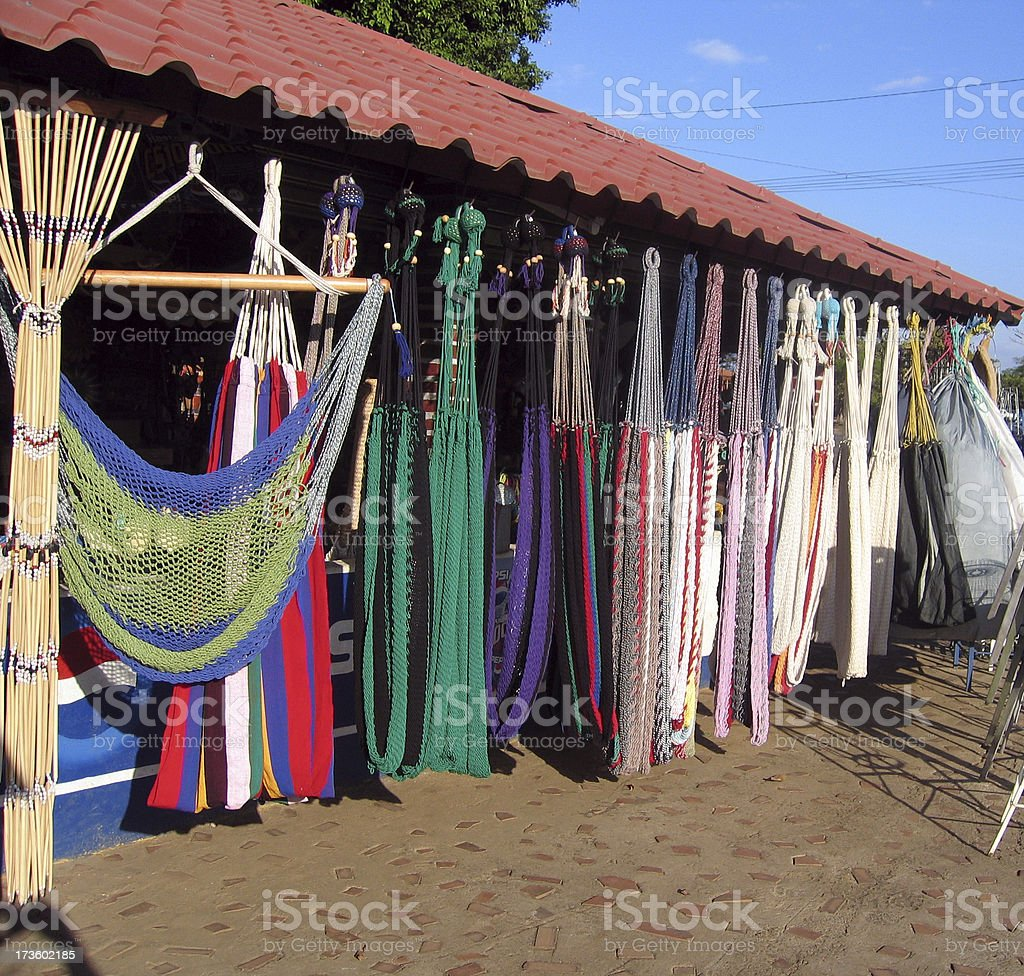 Multi-Color Central American Hammocks I royalty-free stock photo
