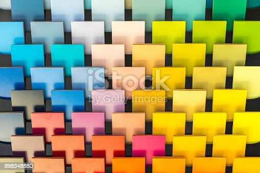 istock Multi-color chart on the wall. example for interior designer 898348880