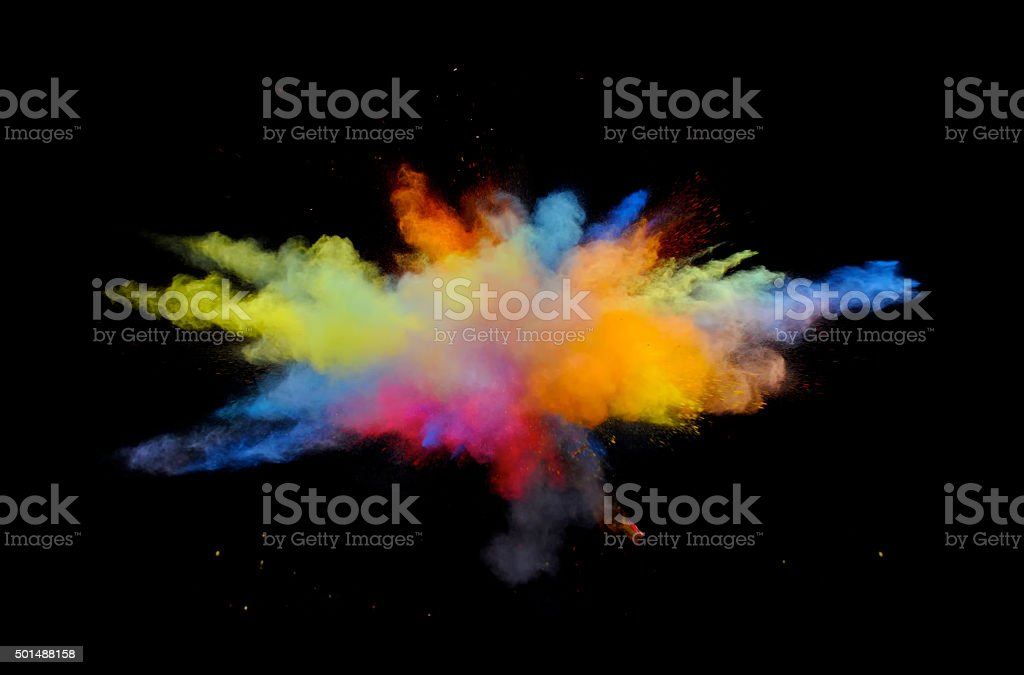 Multi-Color Explosion one stock photo