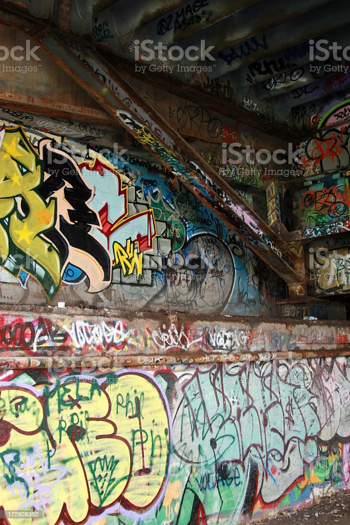 Multicolor Graffiti Paint on Wall Background royalty-free stock photo