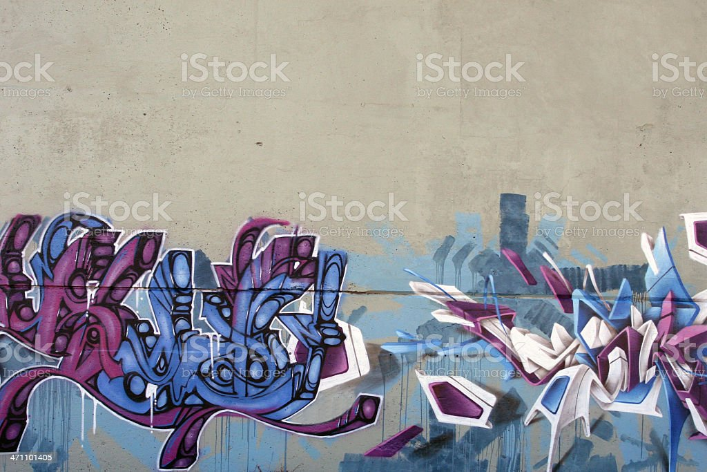 Multicolor Graffiti Paint on Wall Background stock photo