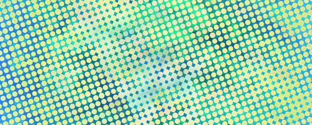 multicolor grunge background of spots halftone - manga style stock photos and pictures