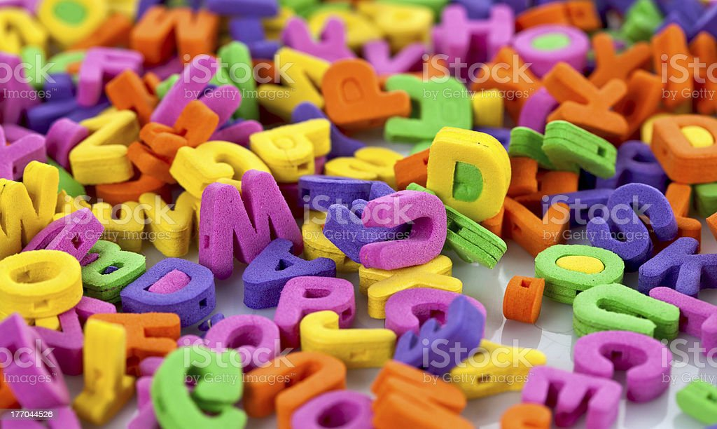 Multicolor letters royalty-free stock photo