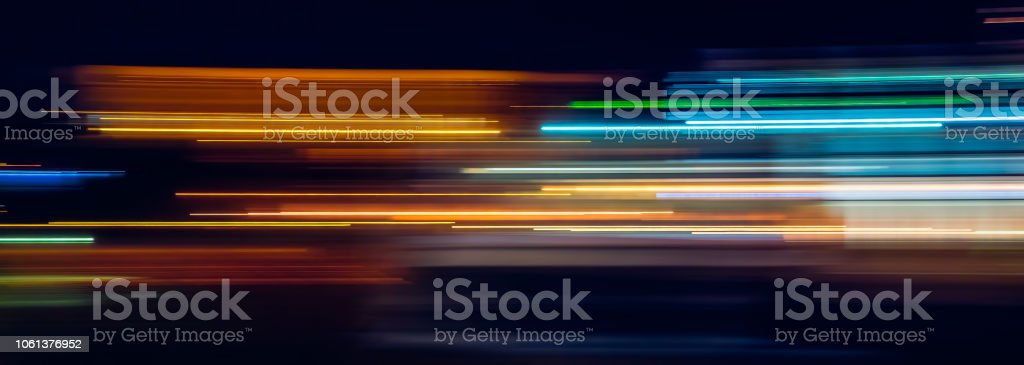Multicolor light trails - Royalty-free Abstrato Foto de stock