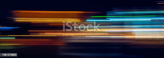 Multicolor light trails