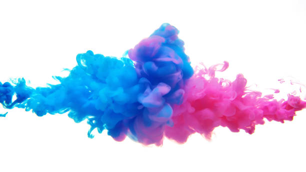 Multicolor liquid impact Multicolor liquid impact. smoke physical structure stock pictures, royalty-free photos & images