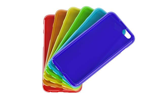 MultiColor Mobile Phone plastic cases stock photo