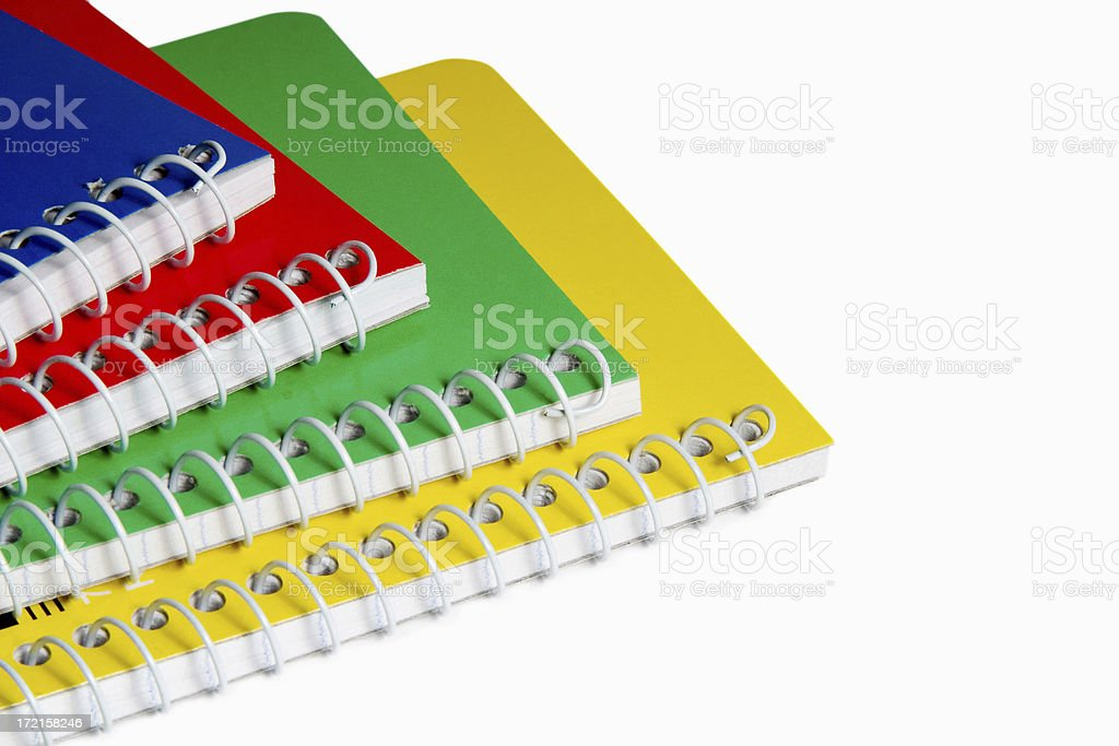 Multicolor Notepads stock photo