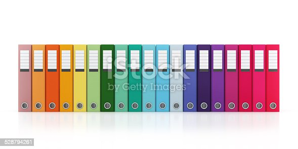 istock Multicolor Office Folder File Horizontal Composition Isolated 528794261