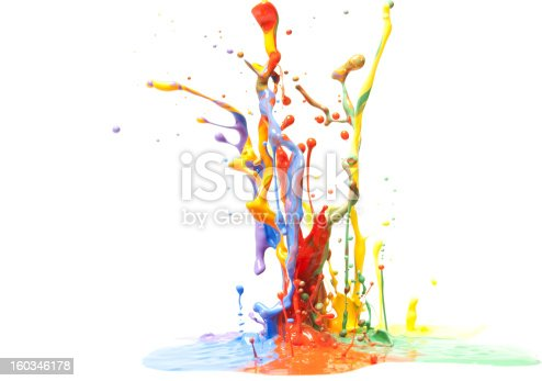 istock Multicolor Paint Splash Isolated on White 160346178