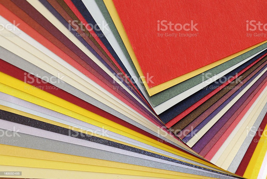 Multicolor paper samples royalty-free stock photo