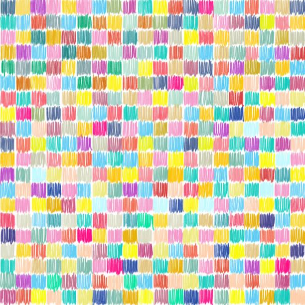 multicolor bleistift kritzeln. - blumenstreifen stock-fotos und bilder